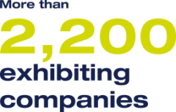 More than 2.2 exhibiting companies